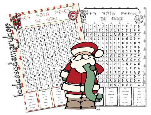 Mots mêlés de Noel Cycle 3