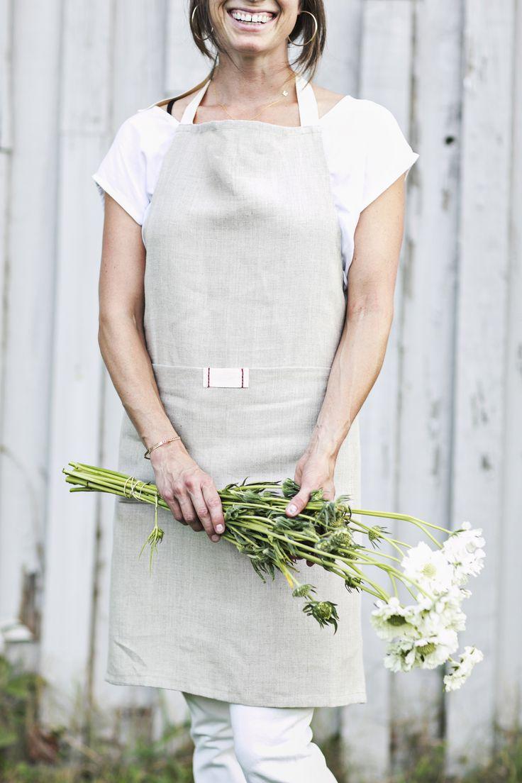 White apron edinburgh - Linen Bistro Apron