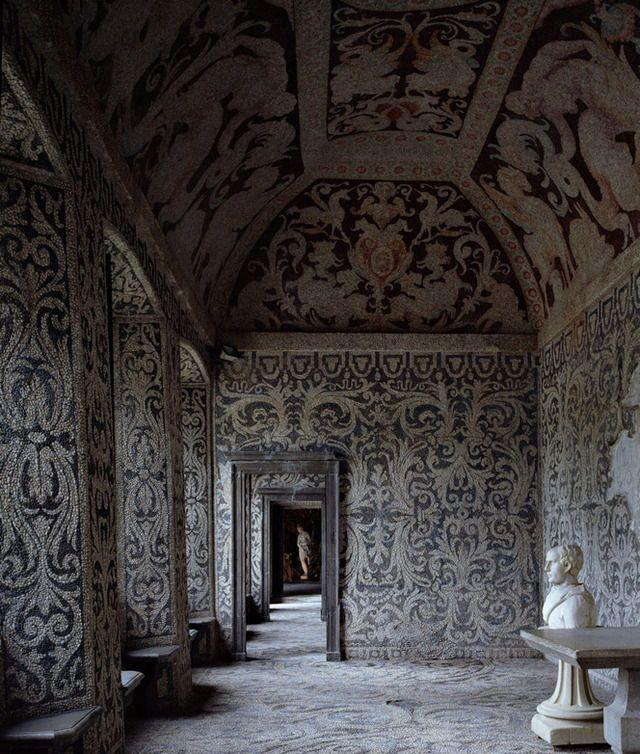 The Nymphaeum At Villa Visconti Borromeo Arese Litta In Lainate Italy Parement Mural Peinture Murale Jardin Italien