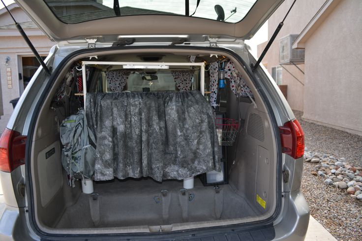 Curtain Hides The Headboard While Driving Still Allowing A View Out Rear Window Camping IdeasRear