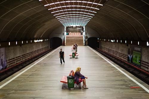 Waiting - The Metro in Bucharest.