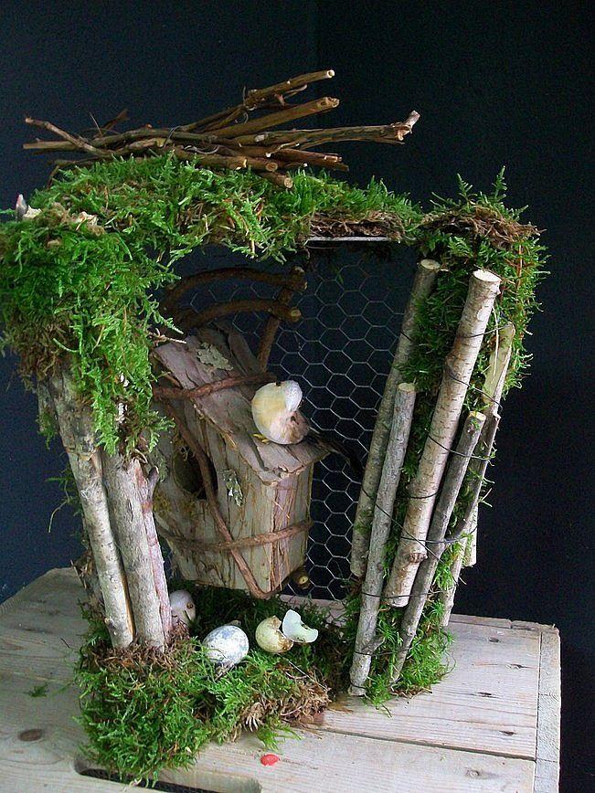 Voorjaar workshops kijkkastje van gaas, mos en takken of manderijnkistje voor binnen of buiten