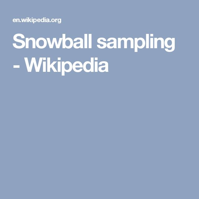 Snowball sampling - Wikipedia