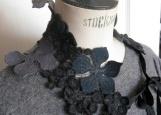 Tour de cou en laine et soie - fleur