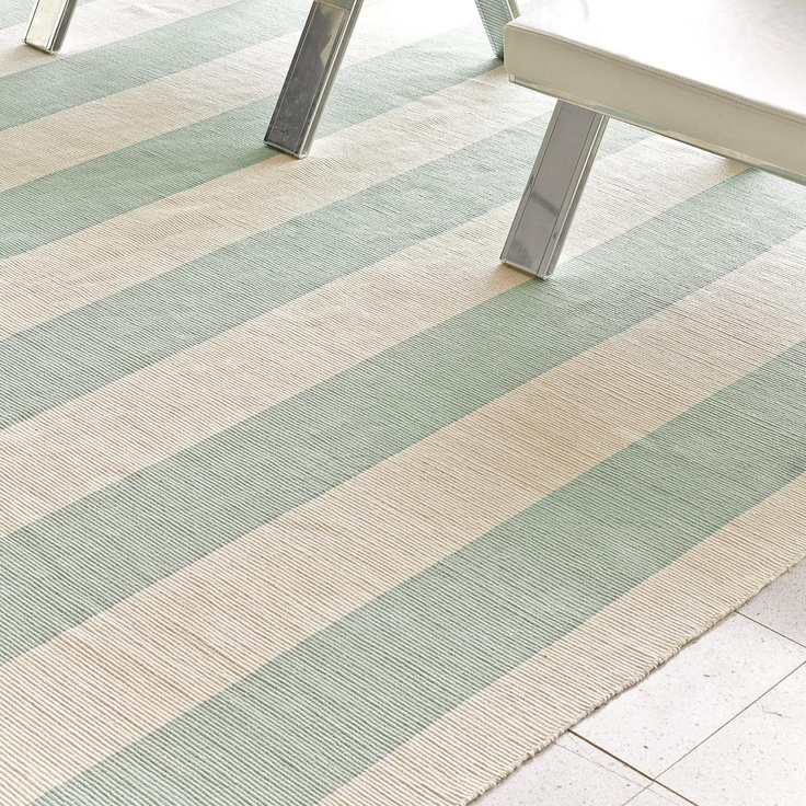 Wide Stripe Cotton Flat Weave Rug