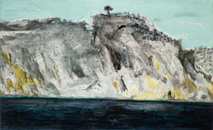 Παναγιώτης Τέτσης, Βράχια της Ύδρας II, 2011-2014, Λάδι σε μουσαμά