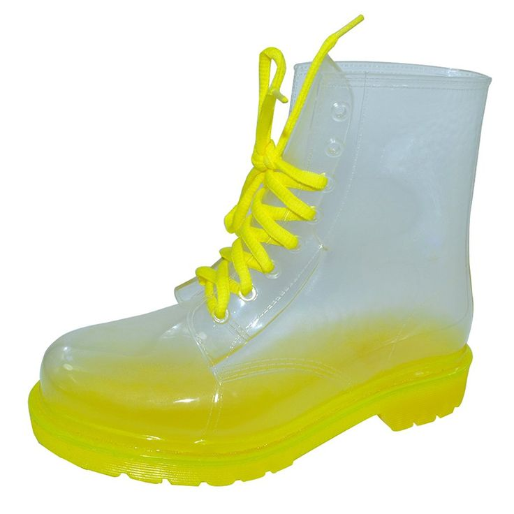 VELCANS® Fashion Transparent and Flat Ladies Rain Boots Sale and Women Rain Booties Shoes ** Details can be found  : Knee high boots