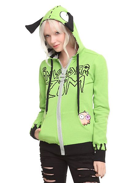 Invader Zim I Am Gir Girls Hoodie | Hot Topic