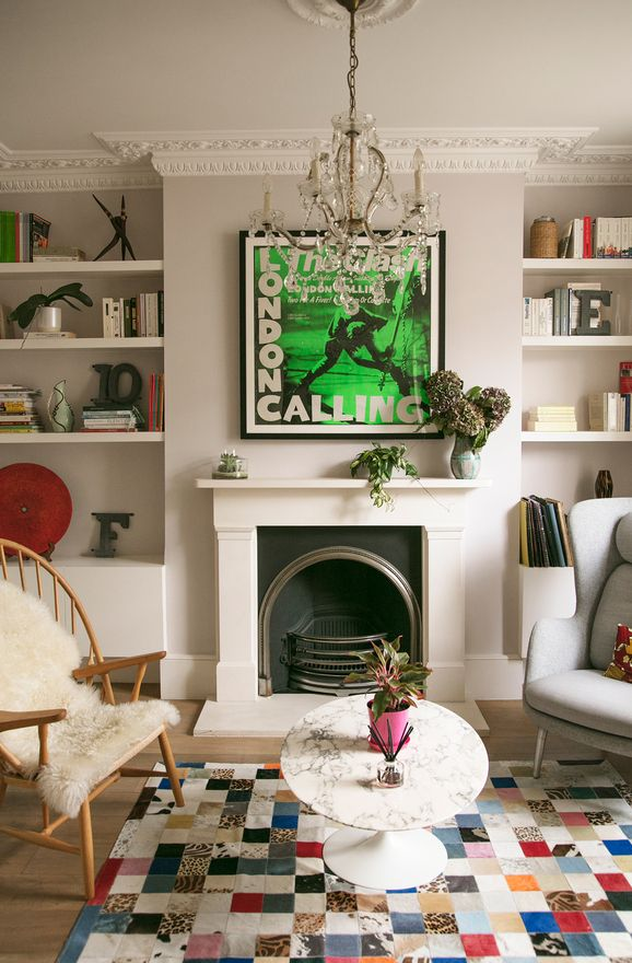 vintage, mid century, contemporary in the living room