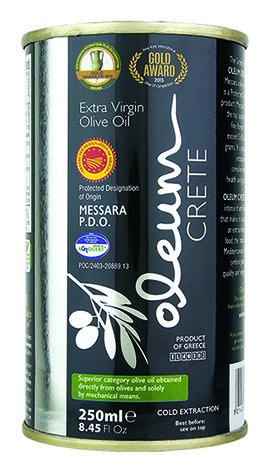 Oleum, Griekse Extra Virgin olijfolie in blik 250ml  met zuurtegraad van 0,22% - TOP!
