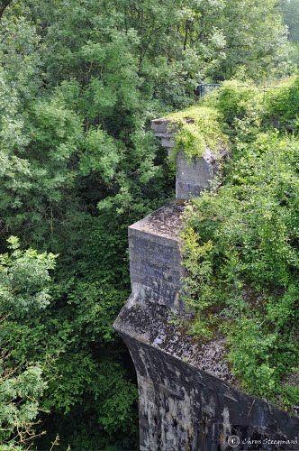 Pilar of the Remersdaal bridge. Belgium.