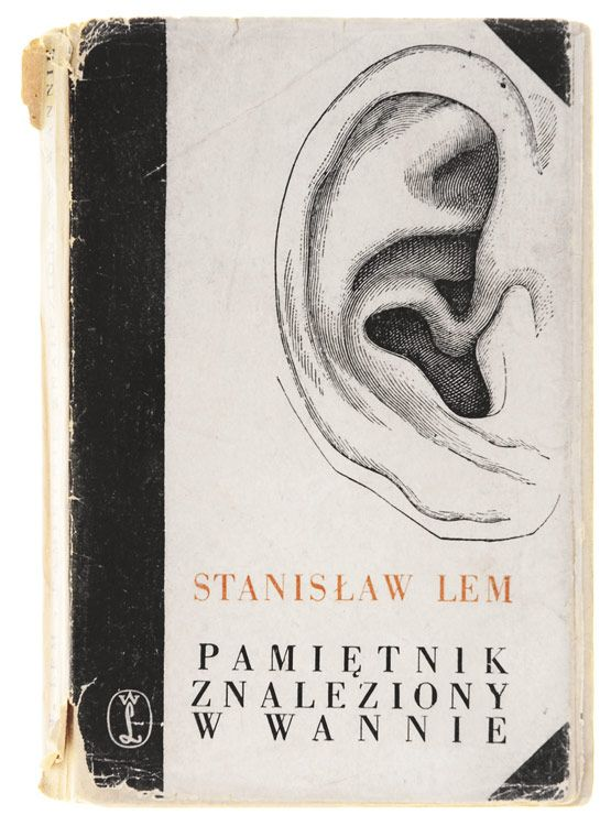 "Book cover by Daniel Mróz for ""Memoirs Found in a Bathtub"" by Stanisław Lem (1961)"