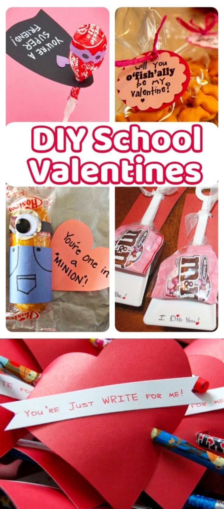 Valentines Day - DIY handmade Valentines Cards for kids to give at school. #teachervalentinegifts #valentinesdayideas #valentinesdaycrafts #valentinecards #diy #craftsforkids #diyprojectsforkids #valentinesday #valentinesdaygiftideas #holidaycraftsforkids