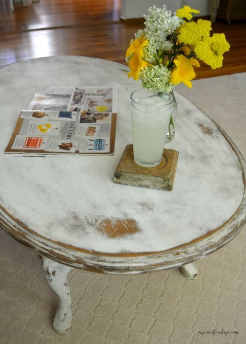 Heavily Distressed Coffee Table - Repurposed Coffee Table