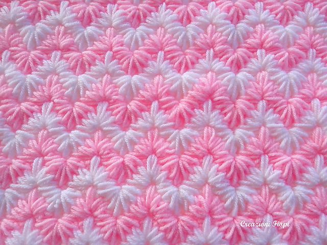 Crochet Patterns Baby Blanket / zig zag puff stitch/ Tutorial Instant Download / Pattern 808/ Permission to sell finished items.