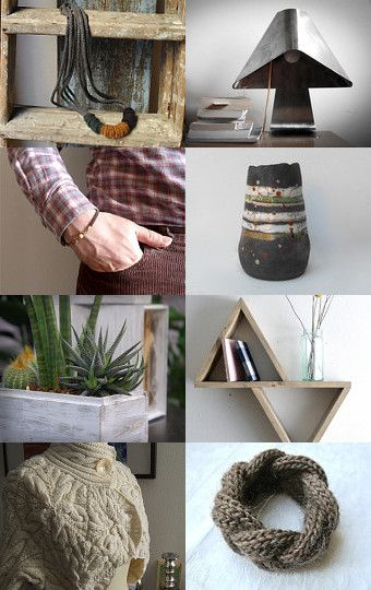 Rustic brown and gray by Buy ititaly on Etsy--Pinned with TreasuryPin.com