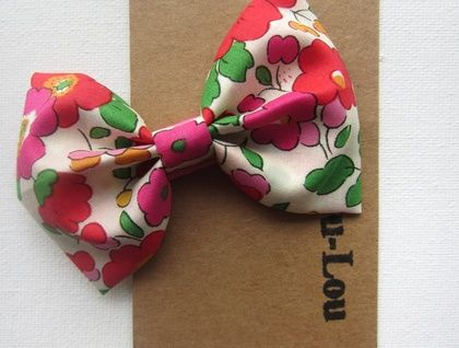 Liberty print Bow hair clip