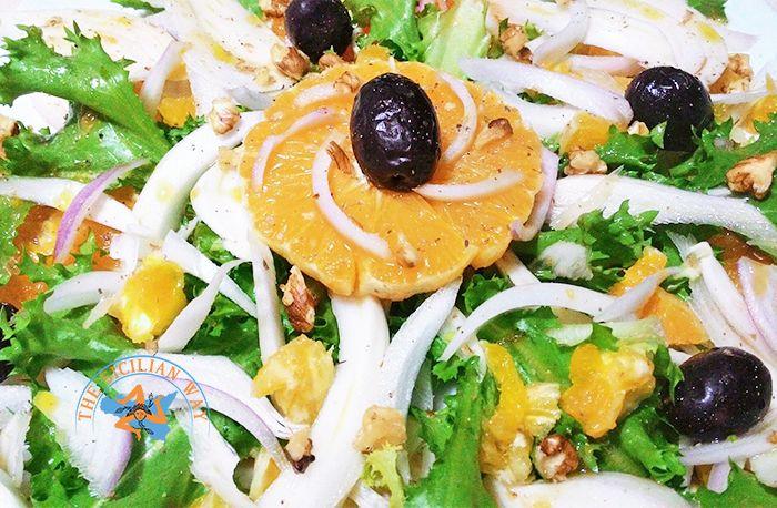 Insalata di arance con finocchi e olive nere | Ricetta siciliana