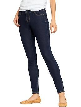 Navy blue super skinny jeans