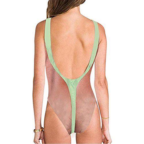 73f49e40dff Women Sexy High Cut One Piece Swimsuit Funny Bathing Suit Bikini Swimwear ,#Cut,