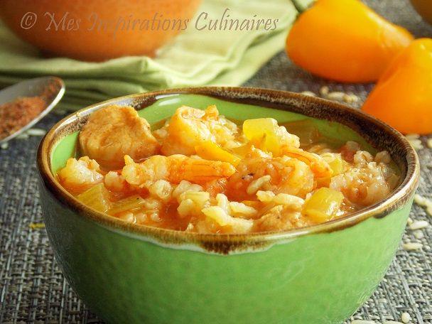 Jambalaya aux crevettes et poulet