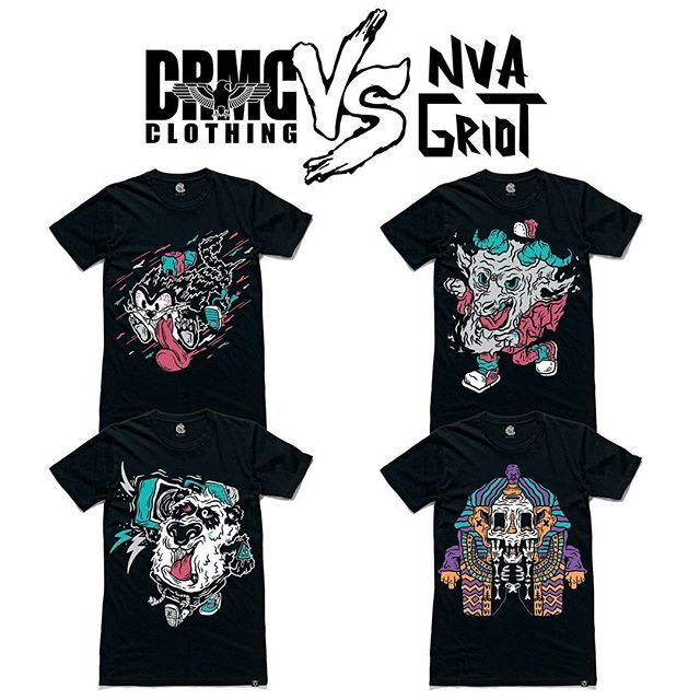 "CRMC X NVA GRIOT Tees From top left; ""Street Cat"" Tee ""Street Goat"" Tee ""Street Panda"" Tee ""Street Pharaoh"" Tee  available at www.crmcclothing.co  #goat #fashion #panda #hiphop #hiphopart #hiphopculture #hiphophead #graff #graffiti #graffart #mexican #mexicanartist #mexico #goat #catlife #cat #cats #lovecats #cat #alternative #alternativewear #alternativestreetwear #alt #altwear #Pharaoh #panda #streetwear"
