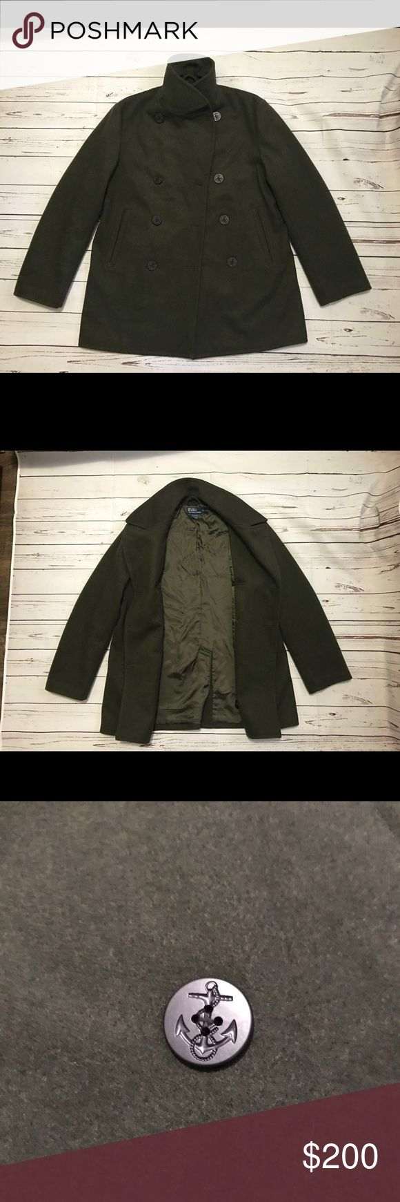 Polo Ralph Lauren Wool Peacoat Amazing peacoat by Ralph Lauren. Great Condition, no rips, holes, or stains. Retailed at Bloomingdales for around $4-500 I believe. Such a great deal Polo by Ralph Lauren Jackets & Coats Pea Coats