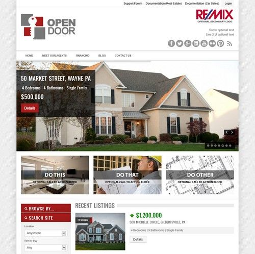 OpenDoor - Responsive Real Estate WordPress Theme | Xtratheme