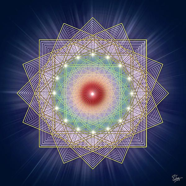 Sacred Geometry Eighty-five by Endre Baloghh