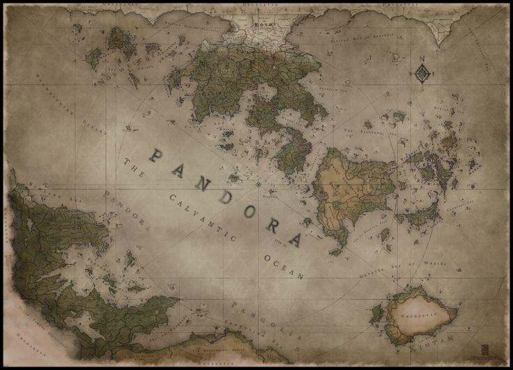Mirhandia Map By Vorropohaiah Top RPG Pinterest Fantasy Map - World map p