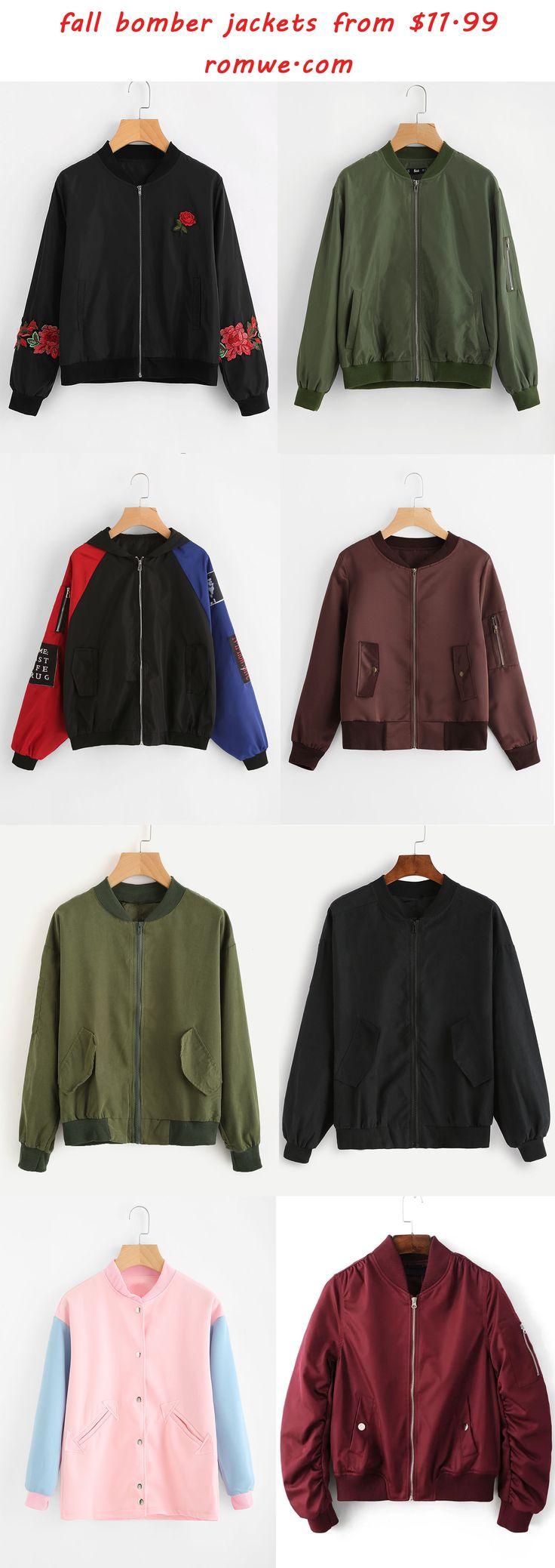 bomber jackets 2017 - romwe.com