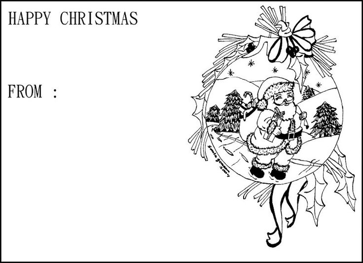 10 best christmas cards coloring page images on pinterest