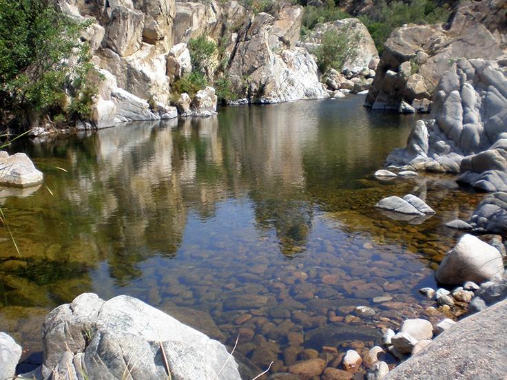 Last #Sardinia - Little lake along the river at Mundugia, Triei, #Ogliastra