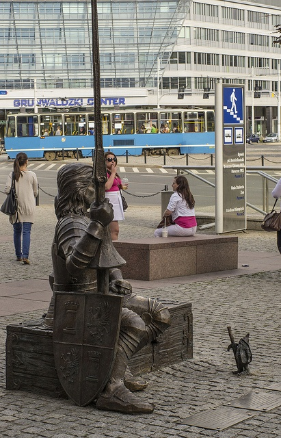 A Knight and a Dwarf (Wrocław, Plac Grunwaldzki) by Tomasz J, via Flickr    We love dwarfs in Wroclaw and this is one of my absolute favourites.