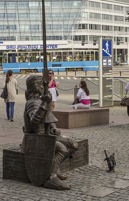 A Knight and a Dwarf (Wrocław, Plac Grunwaldzki) by Tomasz J, via Flickr    We love dwarfs in Wroclaw and this is one of my absolute favourites.