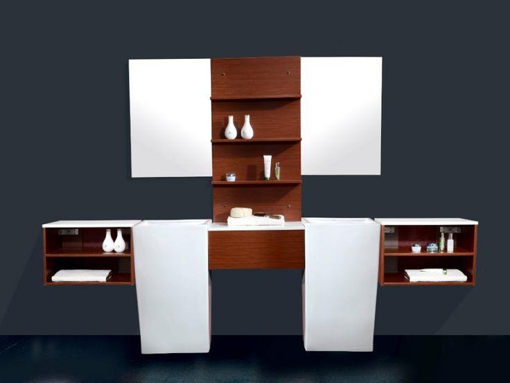 Ensemble BOGORIA - meuble de salle de bain + double vasque ...