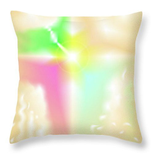 The Digital Abstract Art By Ron Labryzz Throw Pillow featuring the digital art Crux by Ron Labryzz