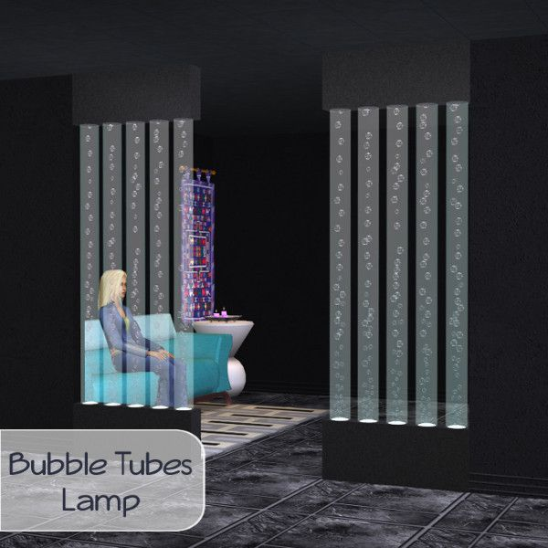 Princessbliss Sim 2 Lamps For A Bit Of Mood The Bubbles Tubes Are The Same Thickness As A Wall Can Look Nice As A Partition The Bow Sims Sims 2 Tube Lamp
