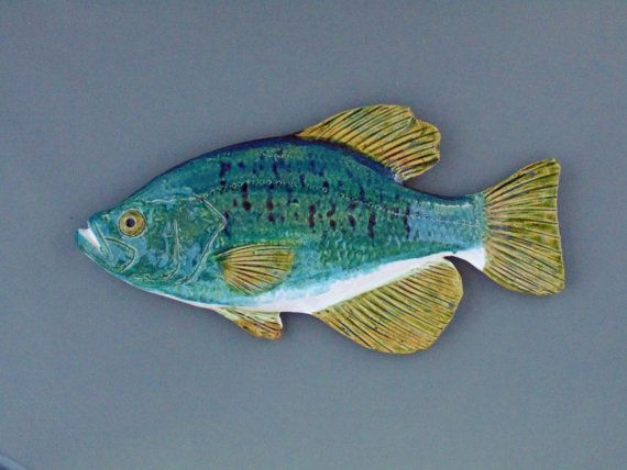 Crappie Ceramic Fish Art Decorative Wall Hanging By
