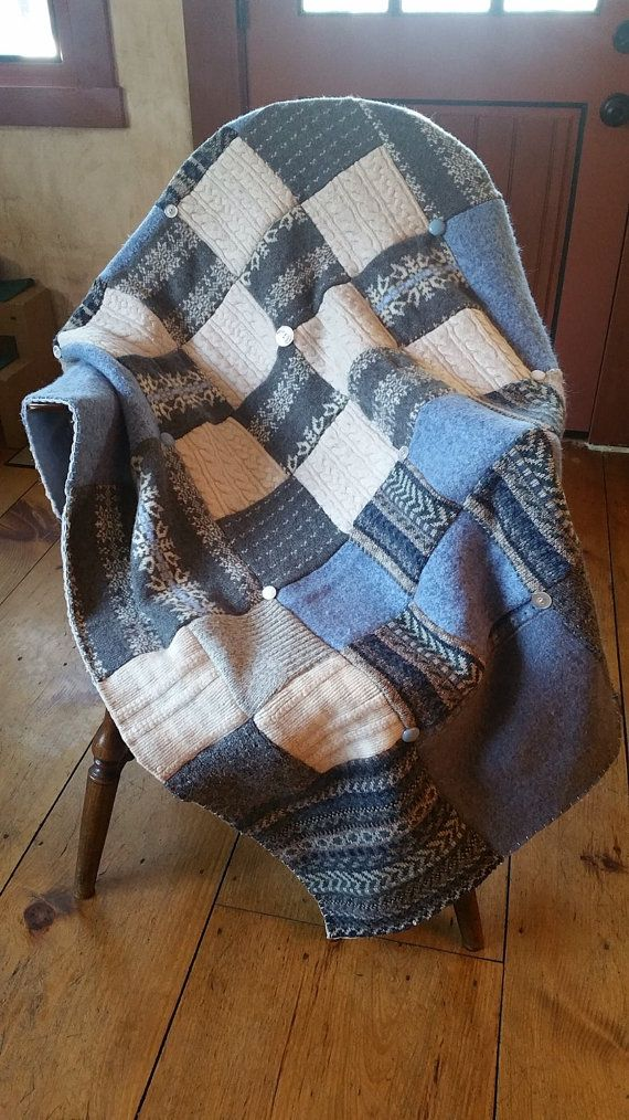 Wool throw blanket crafted from recycled sweaters