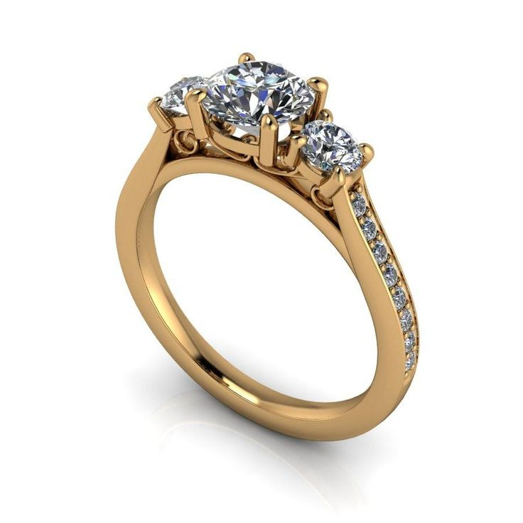 Perfect Such a superb collection of diamonds This Yellow Gold Diamond Engagement Ring can be crafted to suit your own style and budget