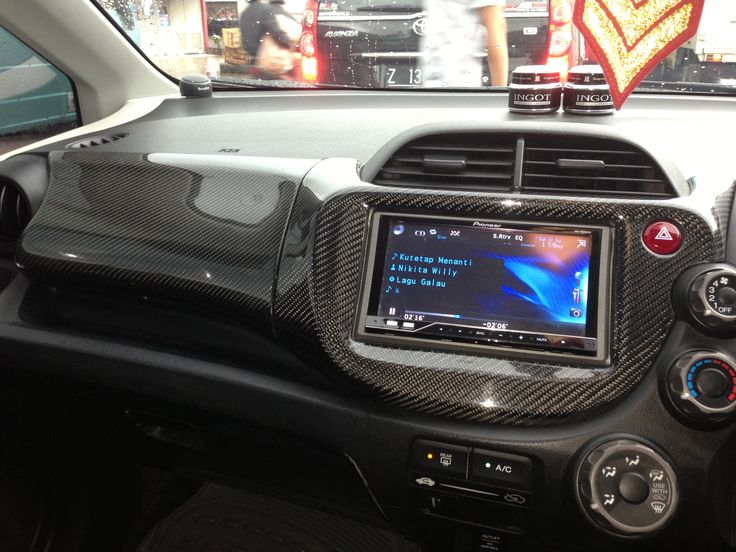 Carbon coating interior Honda Jazz GE8 by #aeromotiveindustry