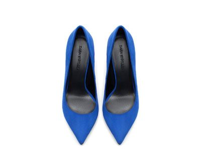 Image 2 of MID HEIGHT SUEDE COURT SHOE from Zara