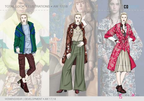 FW 2017-18 trend forecasting - Development - COEXIST macro theme, fashion illustrations