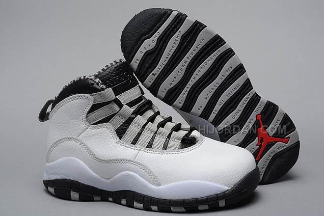 """https://www.hijordan.com/air-jordan-10-retro-kids-steels-whitebair-jordan-10-retro-kids-steels-whiteblacklight-steel-greyvarsity-red-nike-shoes-for-sale-47264.html AIR JORDAN 10 RETRO KIDS """"STEELS"""" WHITE/BAIR JORDAN 10 RETRO KIDS """"STEELS"""" WHITE/BLACK-LIGHT STEEL GREY-VARSITY RED NIKE SHOES FOR SALE 47264 Only $54.00 , Free Shipping!"""