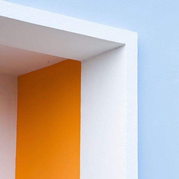 Matthieu Venot's colourful, geometric shots of pastel buildings