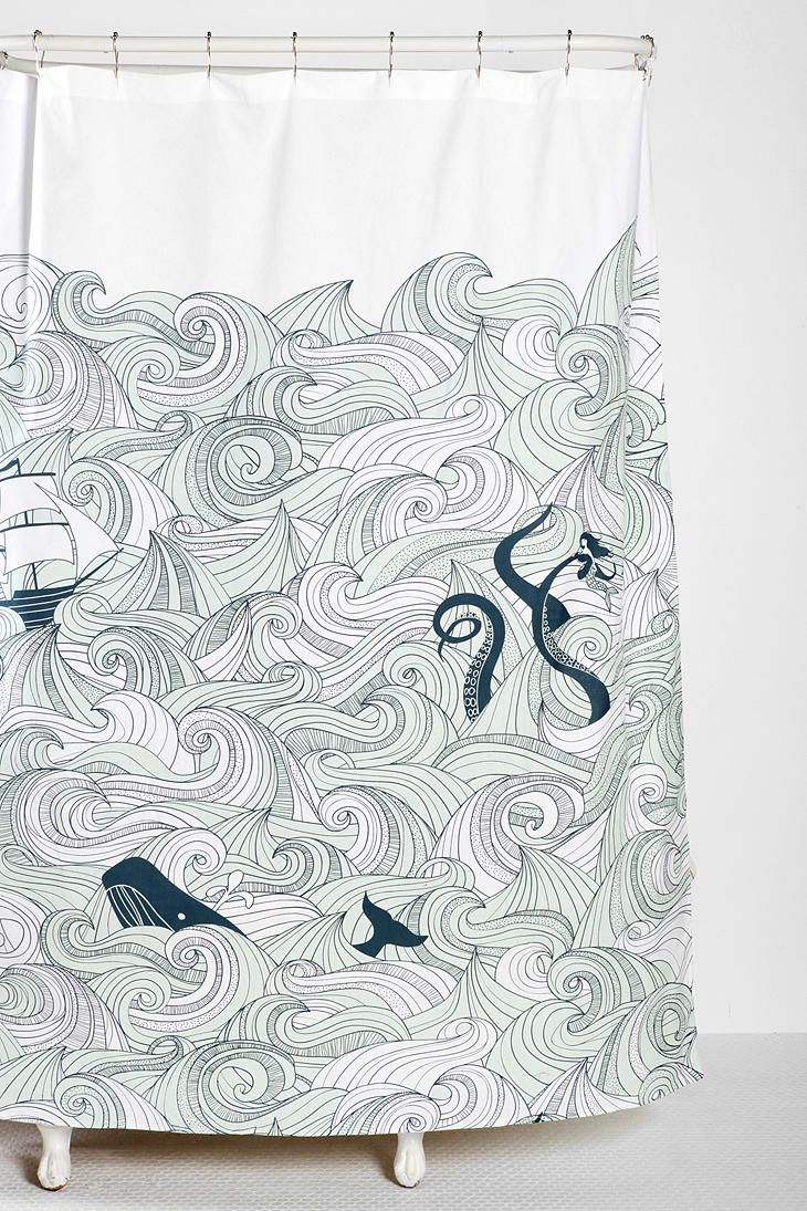 Urban Outfitters Whale Shower Curtain January 2017