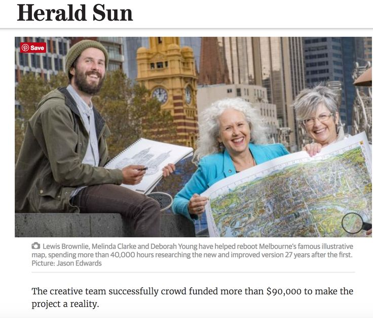 The creative team behind The Melbourne Map Herald Sun 29/04/2017