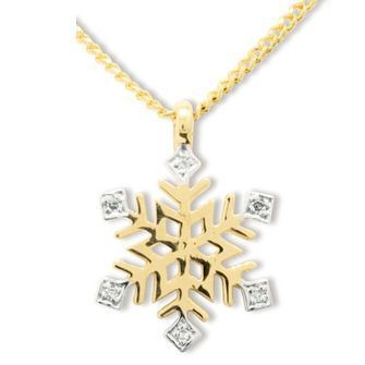 Buy our Australian made Diamond Set Snowflake Pendant - BEE-65209 online. Explore our range of custom made chain jewellery, rings, pendants, earrings and charms.