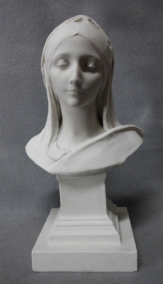 Fine Antique Parian Porcelain Bust of Lovely Lady